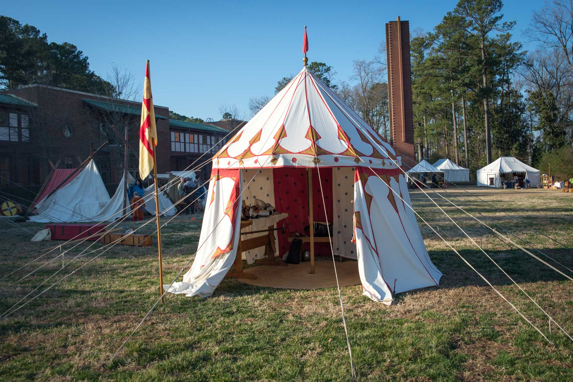Friendu0027s arming pavilion with taut line hitched guy lines. & Easy Medieval Tent Improvement Tip u2013 Knyght Errant